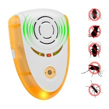 Electric Ultrasonic Mouse Repeller Small Night Light Cockroach Trap Insect Mosquito Repellent Rats Spiders Pest Control Device