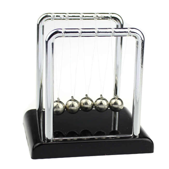 "2018 Kids Physics Science Accessory Desk Toy Newton""s Cradle Steel Balance Ball CreativeFriction and damping effects"