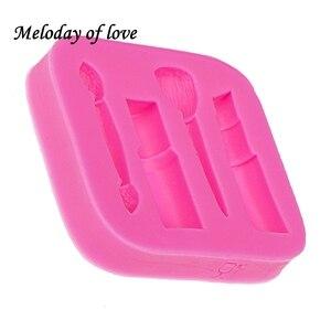 Image 4 - Molde de silicone para maquiagem, ferramentas de maquiagem para diy, esmalte, chocolate, festa, fondant, ferramentas de decoração de bolo, sobremesa, t0075