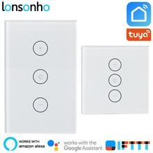Lonsonho Wifi Smart Dimmer Switch Touch Panel Light Bulb 220V Tuya Life App Works With Alexa Google Home