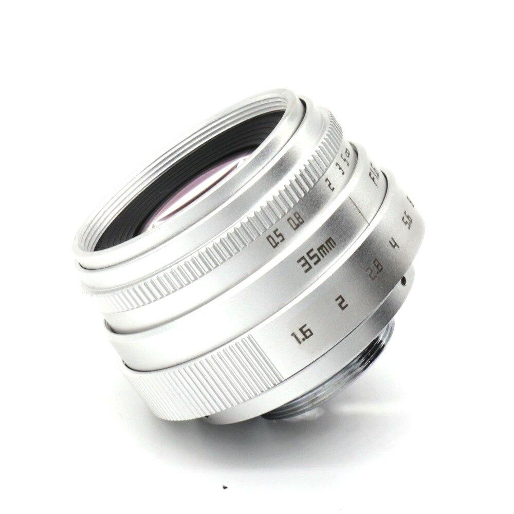 hõbedane uus saabumine FUJIAN 35mm f1.6 C mount CCTV kaamera - Kaamera ja foto - Foto 5