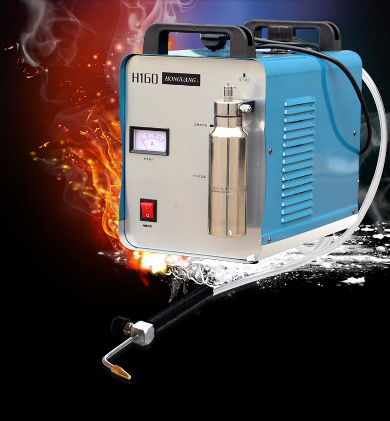 220V H160 Portable Oxygen Hydrogen Water Welder Flame Acrylic Polishing Machine 1000ml 75L/H tools accessories h180 h160 flame polishing machine gun fire polishing gun organic glass polishing gun