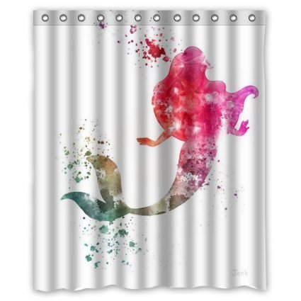 Christmas Decorations For Home Ariel The Little Mermaid 160x180cm Waterproof Fabric Bathroom Shower Curtain