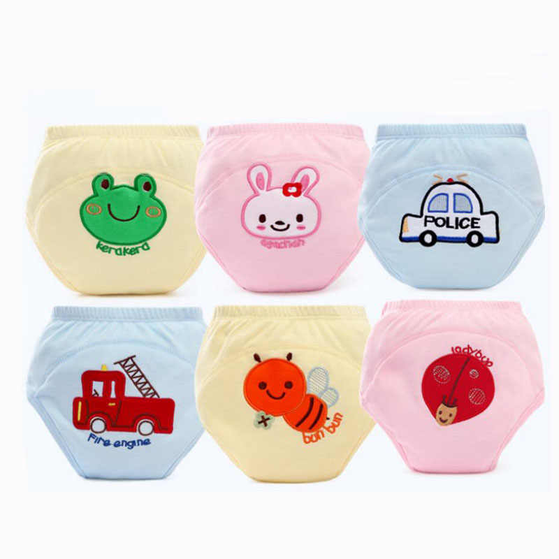 1 ppiezas s pantalones de entrenamiento reutilizables para bebés, ropa interior barata para niños y niñas