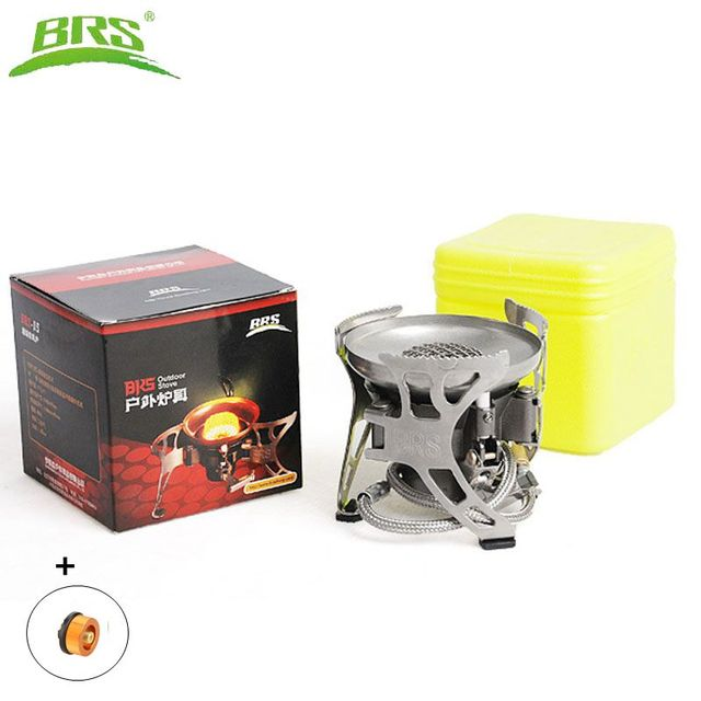 BRS-15 Camping Gas Stove Ultralight Portable Collapsible Windproof Outdoor Gas Camp Stove Cookware for Picnic Camping Hiking