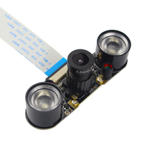 Raspberry Pi 3 Camera Camera(F) Focal Adjustable Module Night Vision +2pcs IR Sensor LED Light +15cm FFC Support Raspberry Pi 2