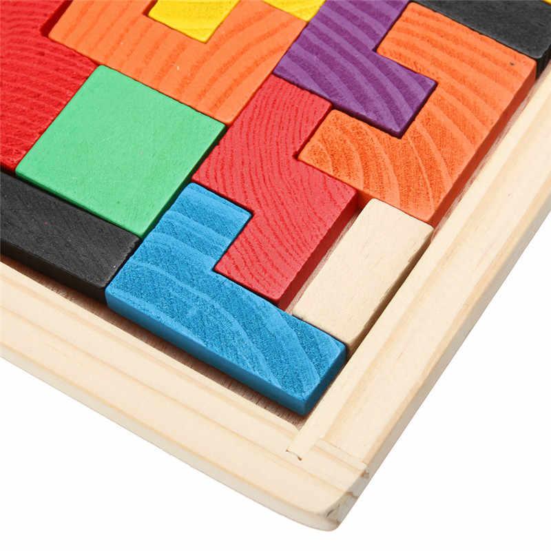 3D 木製パズルジグソーパズルボードおもちゃタングラム頭の体操子供パズルおもちゃゲーム教育赤ちゃんのおもちゃ木製ギフト- 25