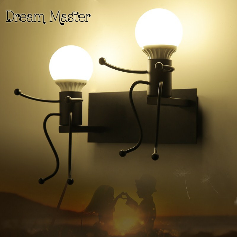 The simplicity of modern creative personality of children room living room bedroom corridor wall art wall lamp bedside lamp modern acrylic led wall lights bedroom bedside wall lamp lampara de pared bed room decoration lighting wall sconces