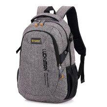 Рюкзак из ткани Оксфорд, большой интерфейс, повседневные дорожные сумки, водонепроницаемые Рюкзаки, Студенческая сумка для ноутбука, черный рюкзак