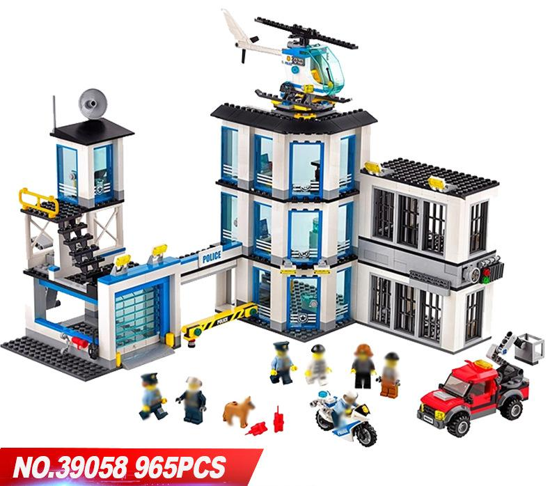 39058 City Police Administration Series Children's Educational Toys Toy Assembly For Children Blocks Lepin Building Bricks xizai connection blocks cartoon building toy big size kitty assembly educational intelligence blocks melody for children gift