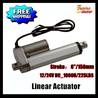 Free Shipping mini linear actuator, 10mm/s 150mm/6inch stroke 1000N/225LBS 12V DC electric  linear actuato Hot Sale By expressFree Shipping mini linear actuator, 10mm/s 150mm/6inch stroke 1000N/225LBS 12V DC electric  linear actuato Hot Sale By express