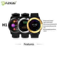 Azexi Bluetooth Спорт Смарт часы 1.39 дюйма 400*400 IP68 Водонепроницаемый 1.4 дюйма сердечный ритм WI-FI 3 г съемке для Android IOS s