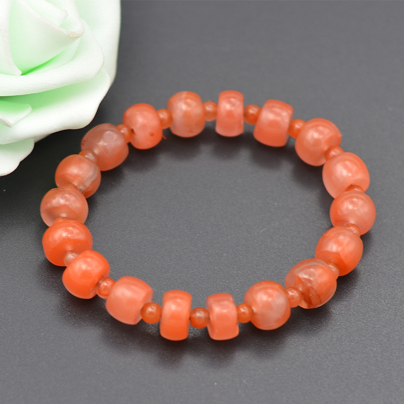 certificate 100% Natural Red South Red Agate Jade Bracelet Agate Bracelet Bangles Gift for Women Jade Jewelry Accessories