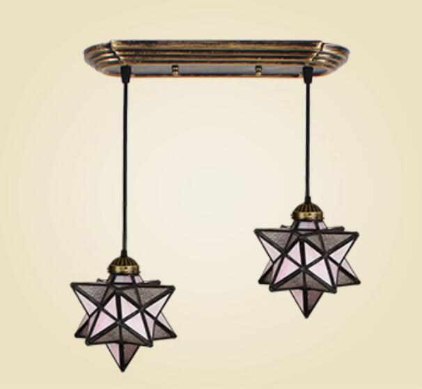 Tiffany Mediterranean industrial wind pendant light creative dining room simple dining room aisle Bar Glass Star DF45 tiffany restaurant in front of the hotel cafe bar small aisle entrance hall creative pendant light mediterranean df66