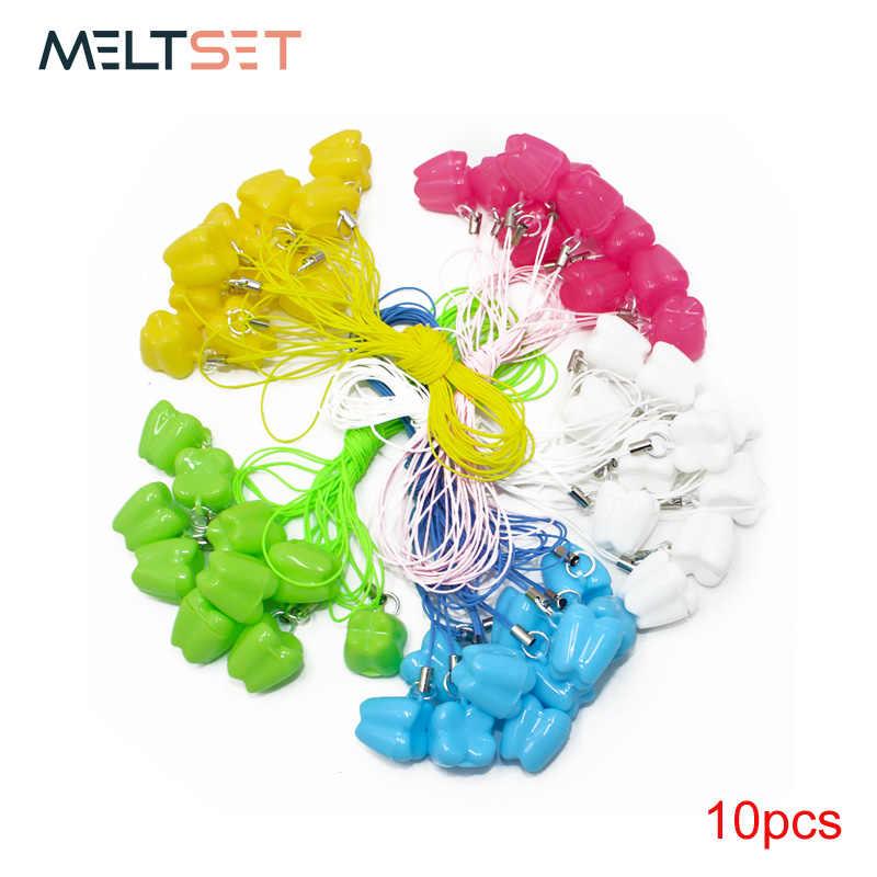 10 шт./партия, детские пластиковые мини-коробки для зубов, органайзер со строкой, экономия молока, емкость для хранения вставной челюсти, зубные зубы стоматологические футляры, подарок
