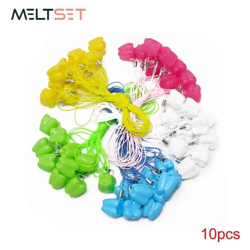 10pcs/lot Kids Baby Plastic Mini Tooth Box Organizer with String Save Milk Teeth Box Storage Teeth Dental Tooth Case Gift(China)