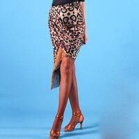 Ladies Latin Skirt Tassel Fringe Dance Skirts Woman Salsa Rumba Samba Cha Cha Competition Performance Dancewear Women DNV10859