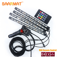4Pcs 18smd 12smd 9smd Car RGB LED Strip DC12V 6000K RGB LED Strip Under Car Tube