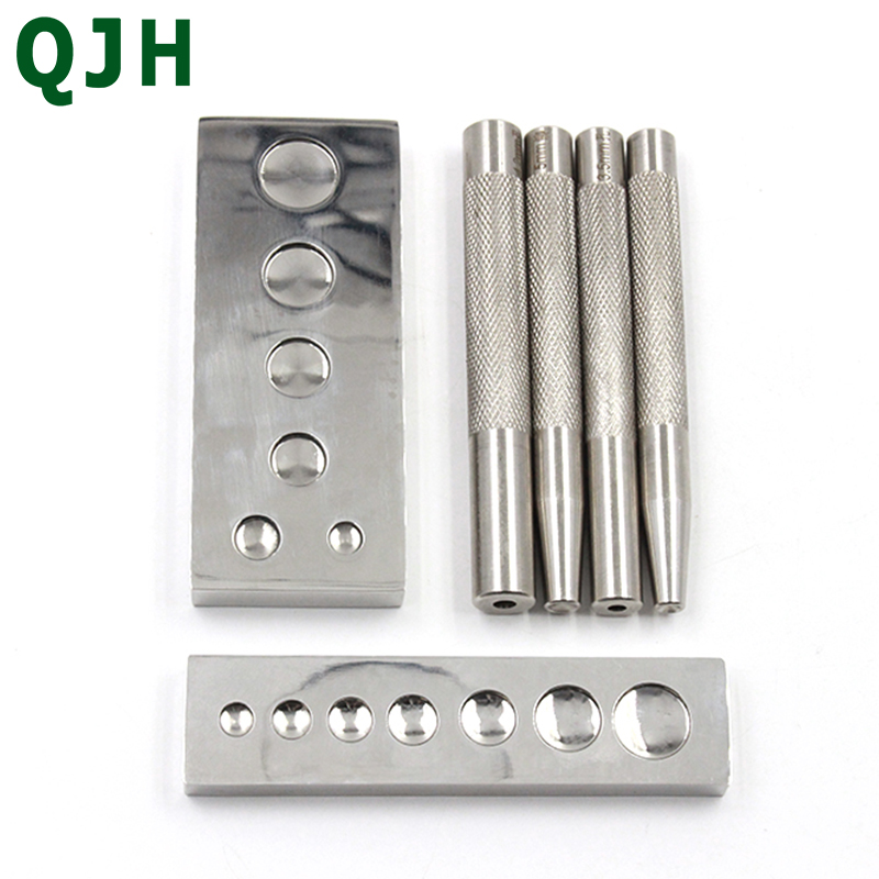 Metal Leather Craft Tool Die Punch Hole Snap Rivet Button Setter Base Kit DIY Punching And Mounting Rivet Buttons Tools