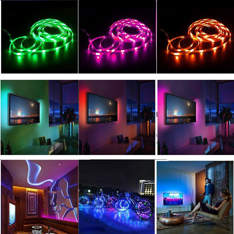 Tanbaby 2m tv led light strip rgb dc5v usb lamp smd 5050 waterproof tanbaby 2m tv led light strip rgb dc5v usb lamp smd 5050 waterproof flexible led tape with remote controller for tv backlight in led strips from lights aloadofball Choice Image