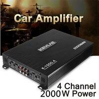 2000 Watt 4 Channel CH Car Auto Audio Power Amplifier HiFi Stereo Amp Aluminum 12V Audio