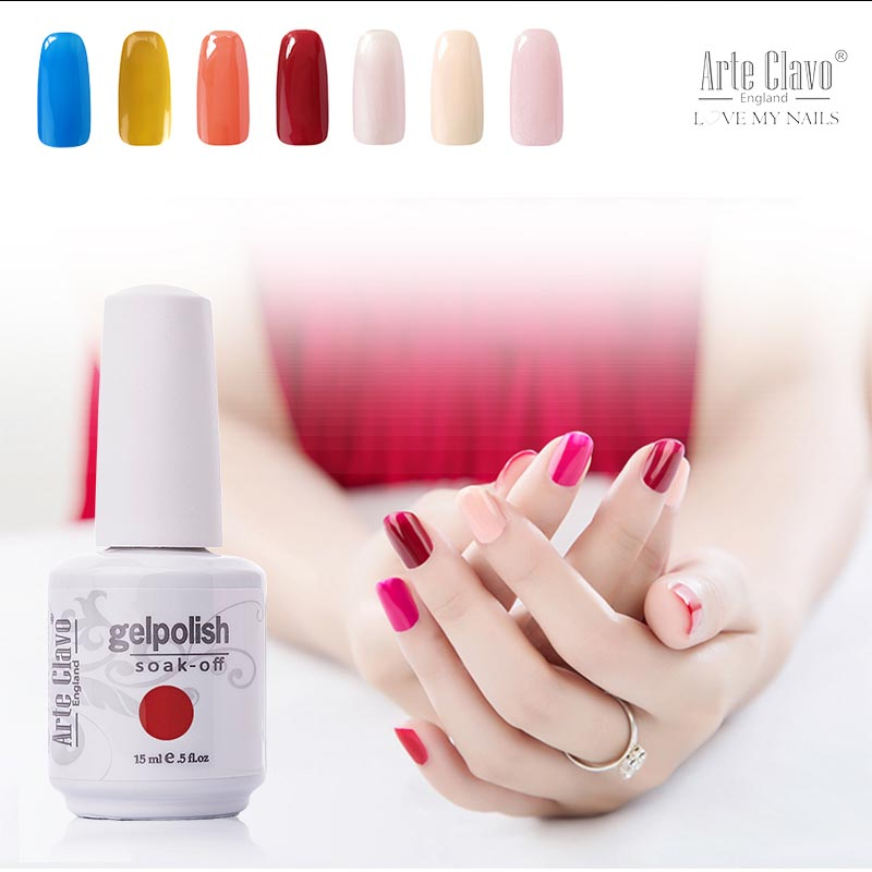 Professionale 15ml Nail Art Color 1361 Gel per unghie Soak Off Nail Sticker Gel UV Polish Lacca Gel per unghie UV