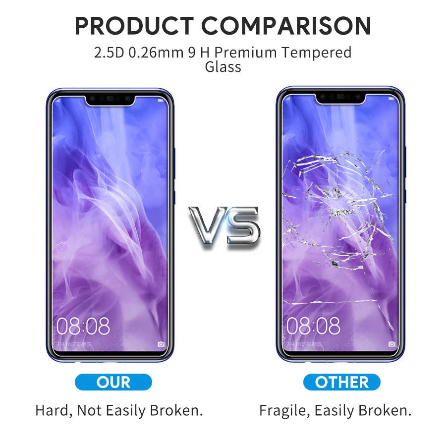 2 Pcs/Lot Protection Glass Tempered glass For Huawei Nova 3i nova 3i Screen  Protector 9H Hard Film For HUAWEI nova 3 I On 6 3