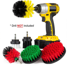 Electric Drill Brush Cleaning Kit All Purpose Bathroom Surfaces Shower, Tub, and Tile Power Scrubber Brush Cleaning Kit D30