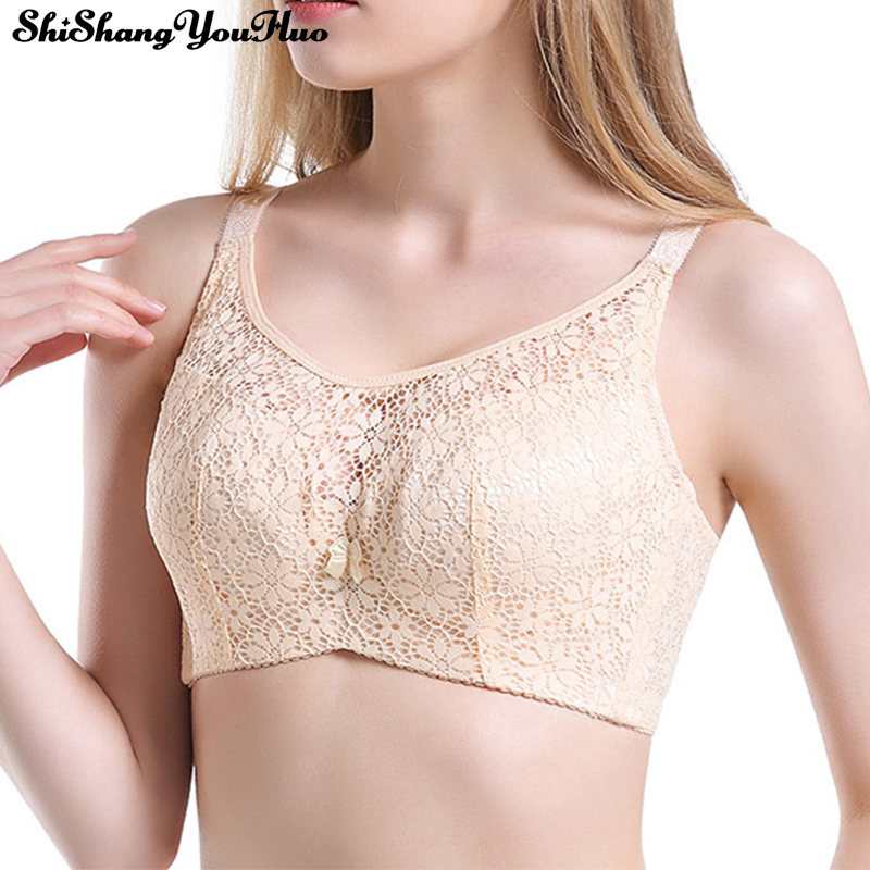 Bras For Women Adjusted-straps Underwire Bra <font><b>Sexy</b></font> Women Underwear Lace <font><b>Bralette</b></font> Lingerie Top <font><b>Encaje</b></font> <font><b>Mujer</b></font> Large Size C D Cup image