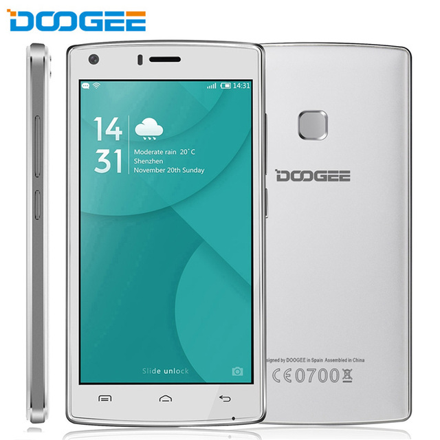 4000mAh Smartphone DOOGEE X5 MAX Pro 16GB+2GB LTE 4G 5.0'' Android 6.0 MTK6737 Quad Core 1.3GHz DOOGEE X5 MAX 1GB+8GB WCDMA 3G