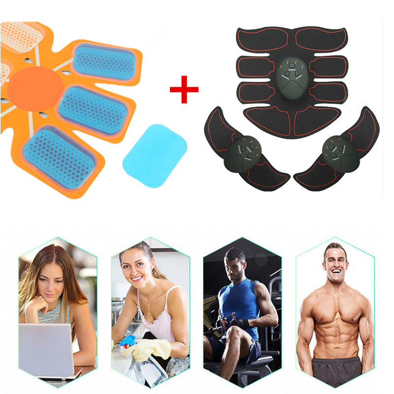 Smart EMS Electric Pulse Treatment Massager Abdominal Muscle Trainer Smart Fitness Body Massager with Hydrogel Mat Replacement