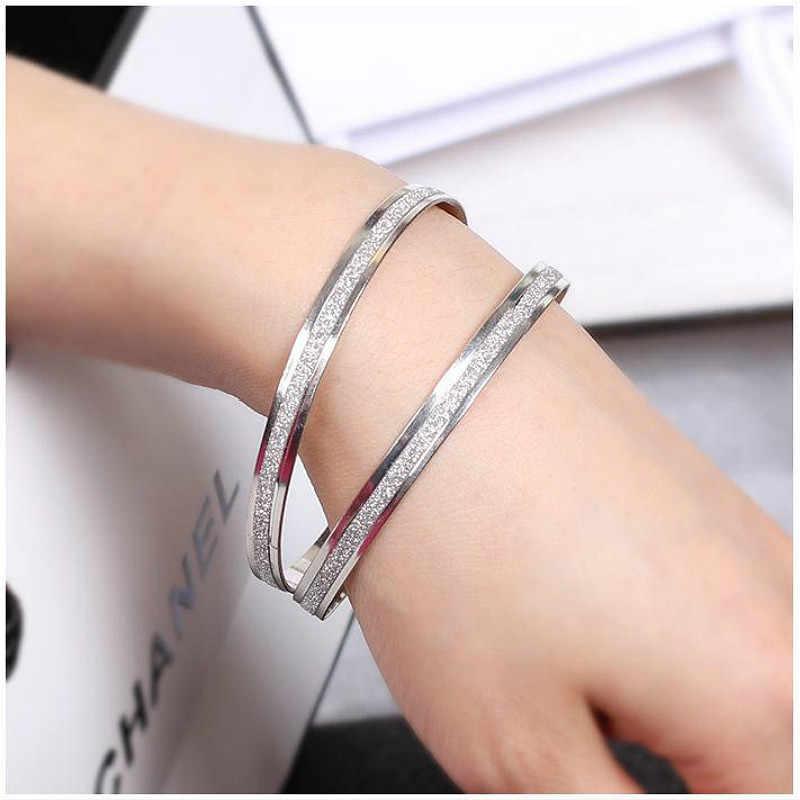 Gorąca sprzedaż Trendy kryształowe bransoletki dla kobiet srebrne złote bransoletki bransoletki ze stali nierdzewnej biżuteria
