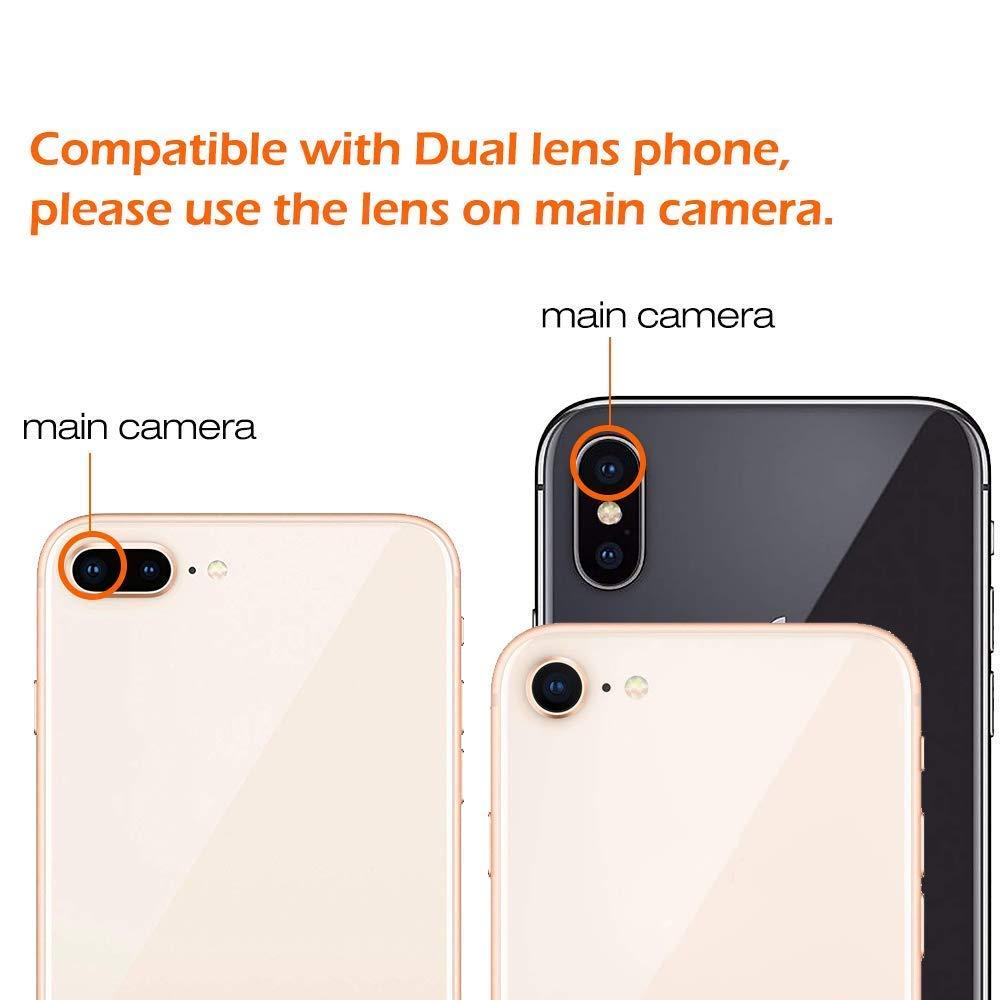 Kits d'objectif de caméra de téléphone à Double régulation: téléobjectif 15X + objectif grand Angle et Fisheye et Macro (2 objectifs) pour la plupart des iOS, Android - 5