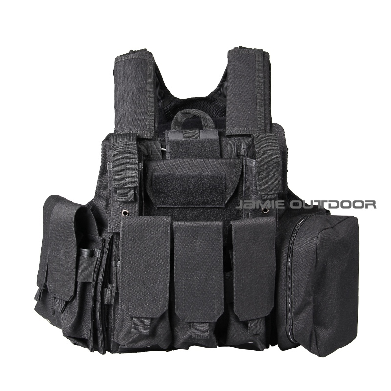 Military Tactical Field Vest CS Hunting Airsoft MOLLE Nylon Combat W/Magazine Pouch Releasable Armor Plate Carrier Strike Vests romanson tl 3222r mw bk bk