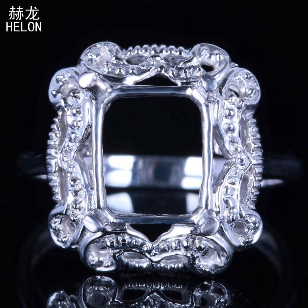 VINTAGE 925 Silver Round Emerald MOISSANITE Gemstone antique Couple Anneau!!!