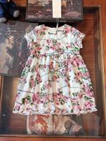 2019 New Fashion Girls Clothing Dress Flower Printed Sleeveless Boutique High Quality Princess Party Dress
