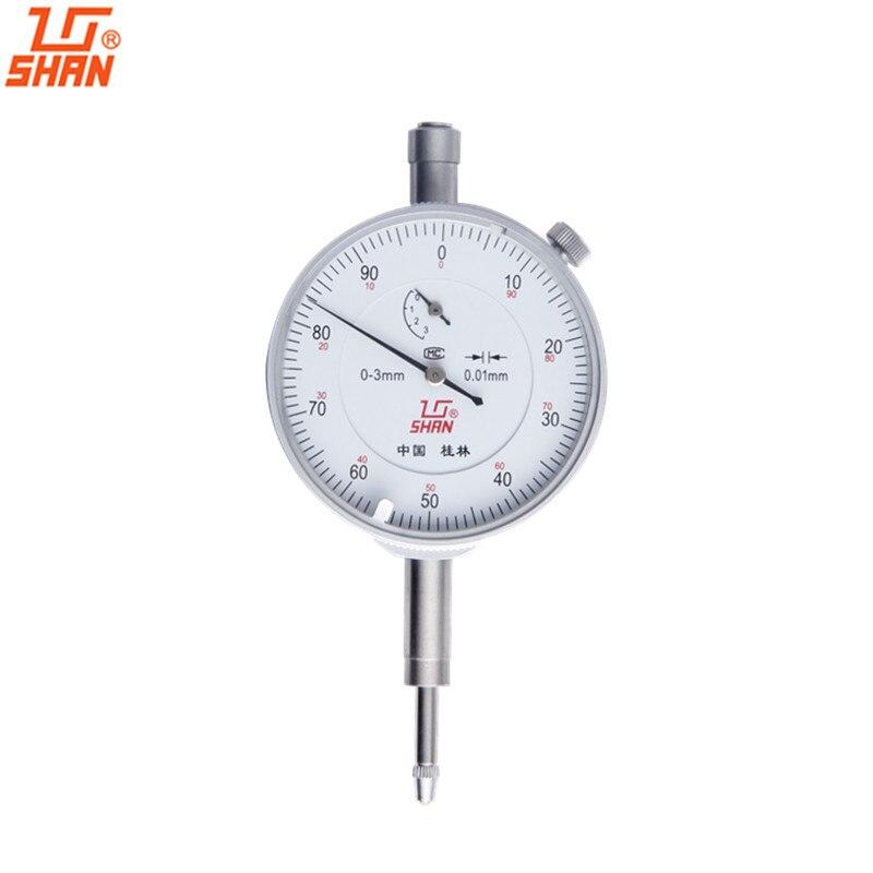 SHAN Dial Indicator 0 3mm 0 01mm Dial Test Indicators Shockproof Micrometer font b Caliper b