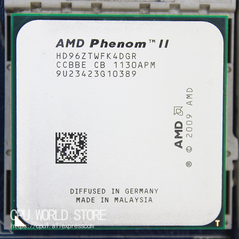 AMD Phenom II X4 960T Quad-Core CPU Processor 3.0Ghz/ 6M /95W Socket AM3 AM2+ 938 Pin Working