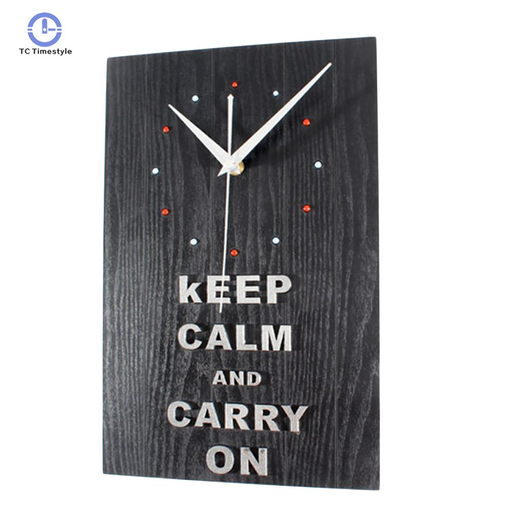 Wall Clock Simple Modern Design Wood Clocks 3d Stickers Vintage Retro Style Wall Watch Home Decoration Accessories Modern