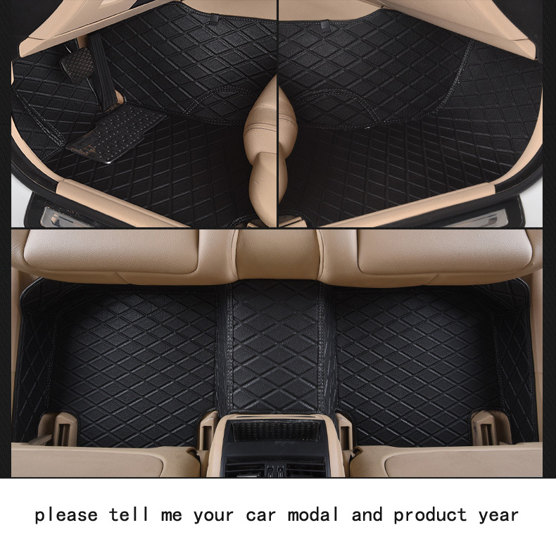 for BMW X5 firm pu leather Wear-resisting Car floor mats black Non-slip custom made waterproof car floor Carpets easy clean pu leather 5 7 seats car rear trunk mats backrest pad for new carens waterproof wear resisting easy clean