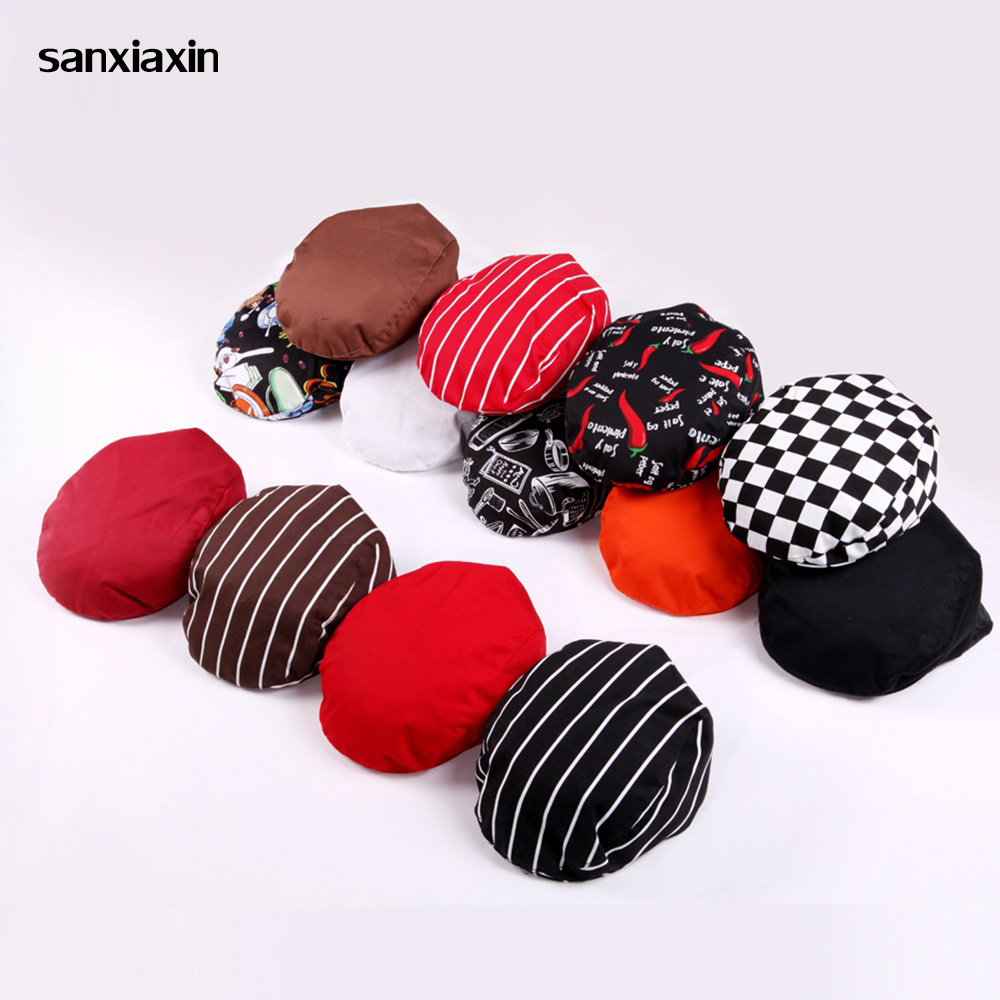Sanxiaxin Cafe Bar Waiter Beret Restaurant Kitchen Workwear Baking Caps Breathable Forward Caps Chef HatsHigh Quality Chefs Hat
