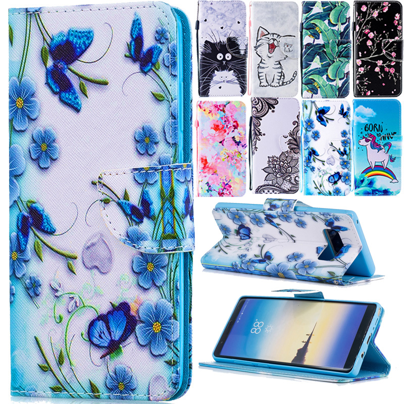 Note 8 Leather Case on for Fundas Samsung Galaxy Note 8 Cover sFor Coque Samsung Note8 N9500 Covers Wallet Flip Stand Phone Case