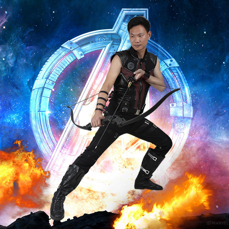 Hawkeye Clint Barton Costume The Avengers Ultron Captain America Cosplay Outfit Superhero Halloween Clothes Party Custom Made