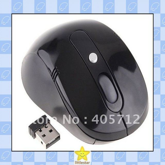 Top Selling, RF 2.4GHz Wireless Portable Optical Mouse USB Receiver