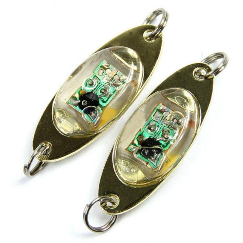 Blixtlampa 6 cm / 2,4 tums LED-djupdropp Undervattensögonform Fiske Squid Fish Lure Light