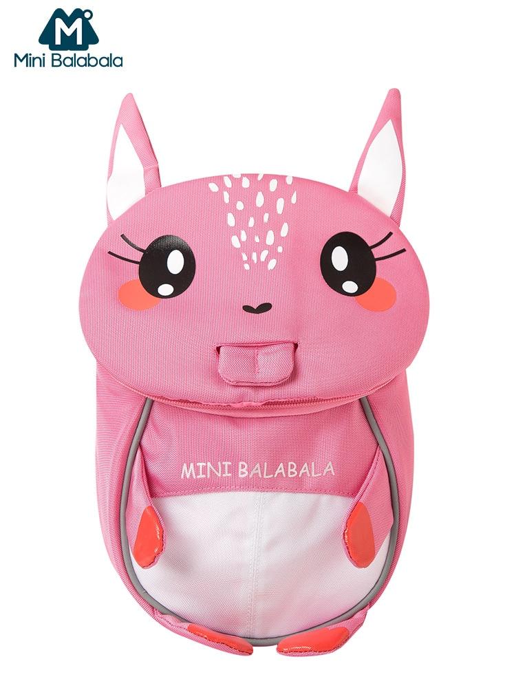 Mini Balabala Kids Backpack 3D Animal Cartoon Anti-lost Schoolbag Bookbag Satchel Toddler Boys Girls Kindergarten School Bags