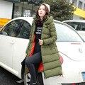 Парки 2016 новая мода зимы женщин вниз хлопка женщин одежда зимнее пальто куртка пальто женщина