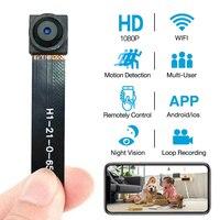Mini WIFI 1080P P2P Pocket Camera DIY Wireless Module Ultra small Cameras support 128G remote control Security Camera With micr