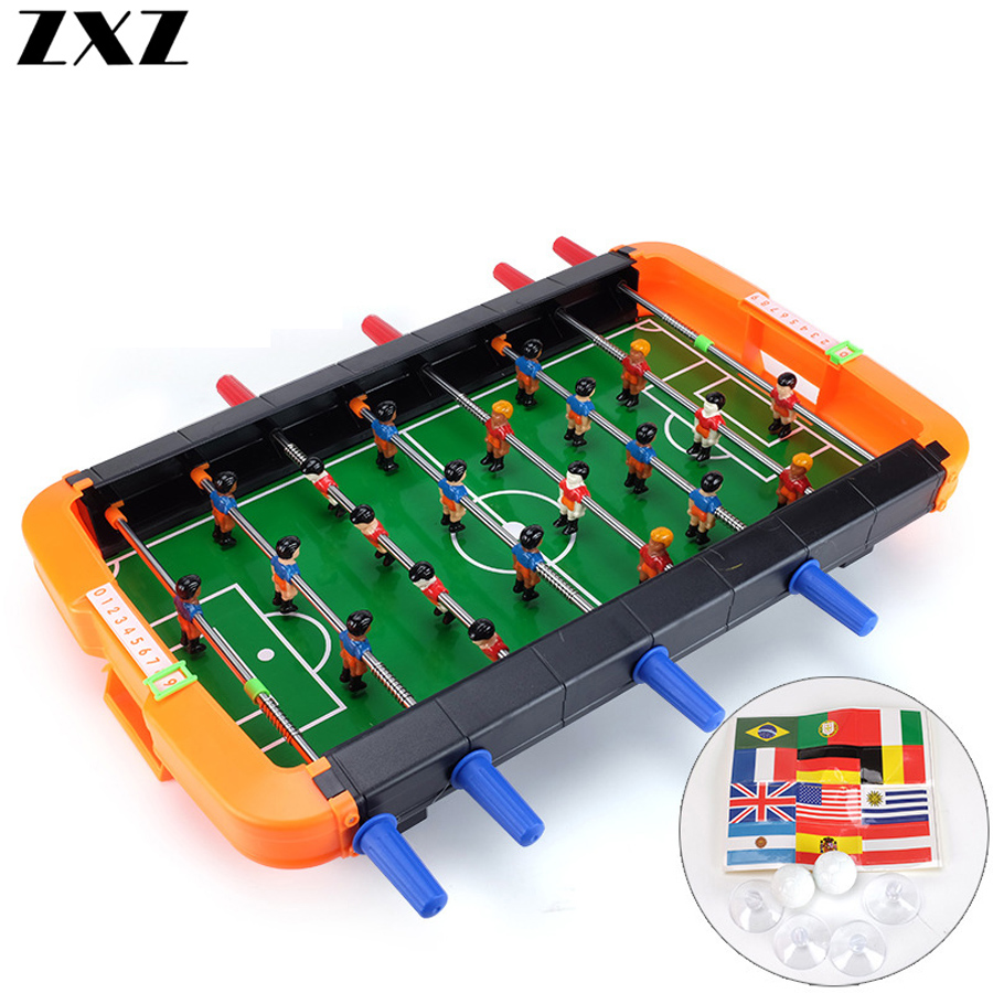 Kids Children Table Football Machine Desk Soccer Toys Outdoor Camping Hiking Tools Entertainment Mini Table Game 6/8 Shots Gifts