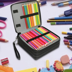 168 Slots Large Capacity Painting Pencils Case Pen Bag with Zipper Strap for Watercolor Pencils, Crayola Colored Pencils